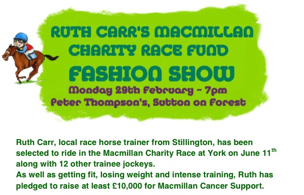 Macmillan Charity Race Fashion Show - 22nd Jan 2015