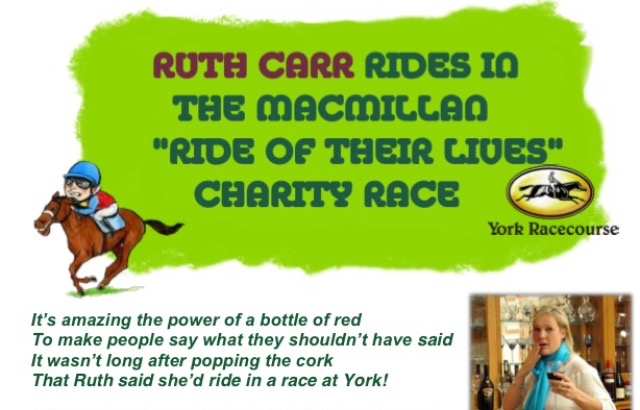 Ruth rides again - a fun poem! 27th January 2016