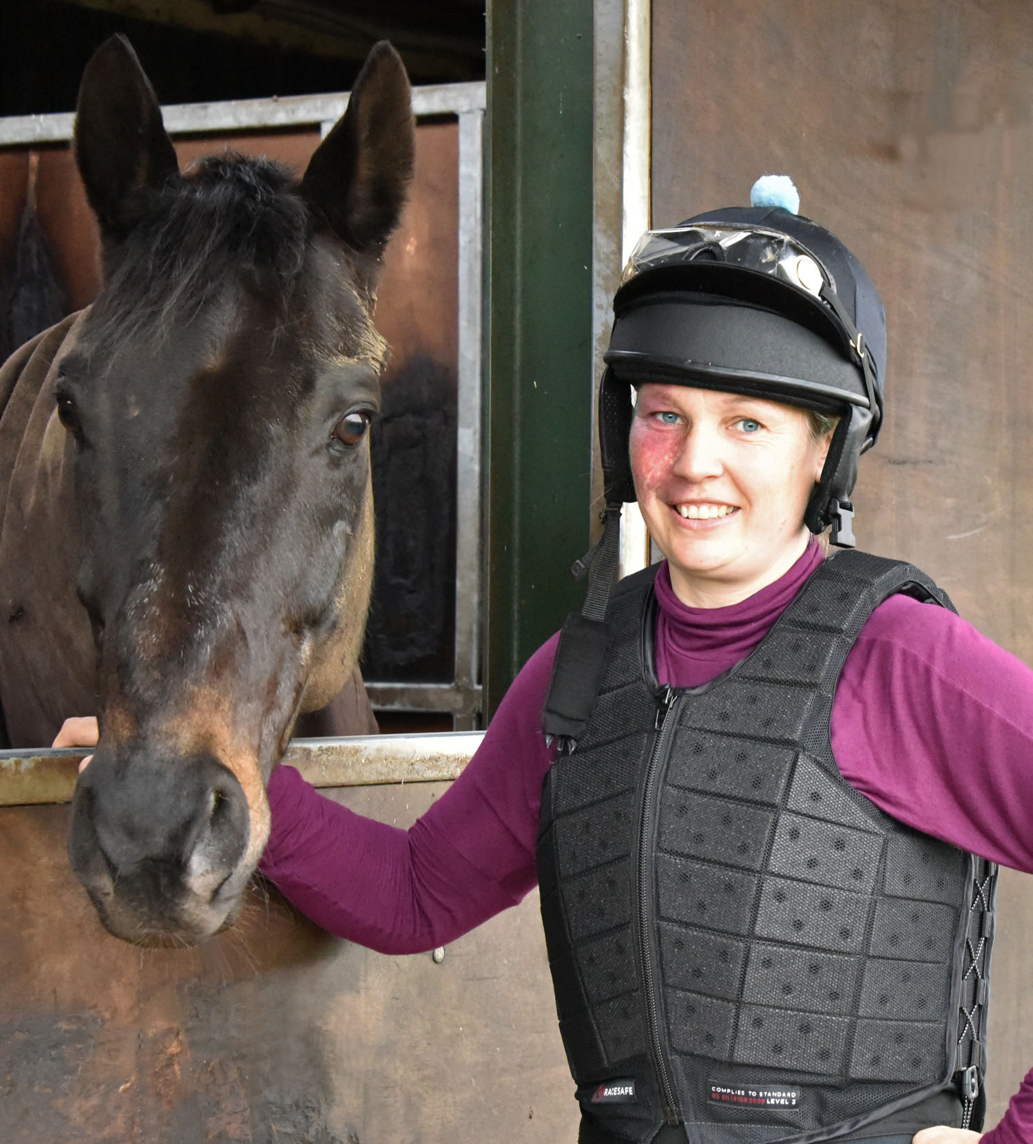 Ruth hat and body protector with Dubai Dynamo