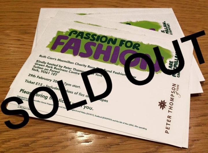 Fashion Show SOLD OUT - 21st February 2016