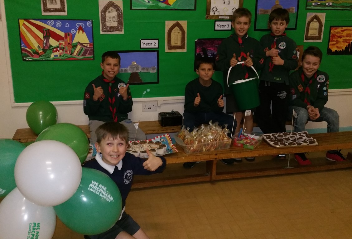 Macmillan cake bake at Cubs - 22nd February 2016