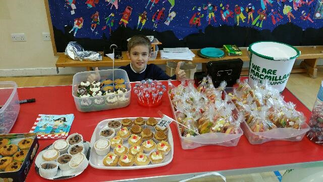 Macmillan cake sale at school - 26th February