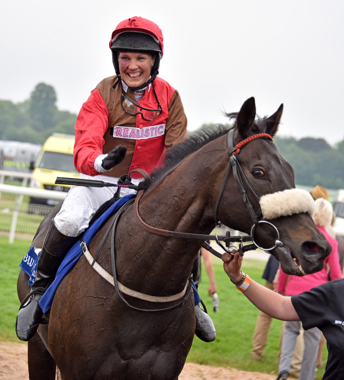 After winning the York Charity race