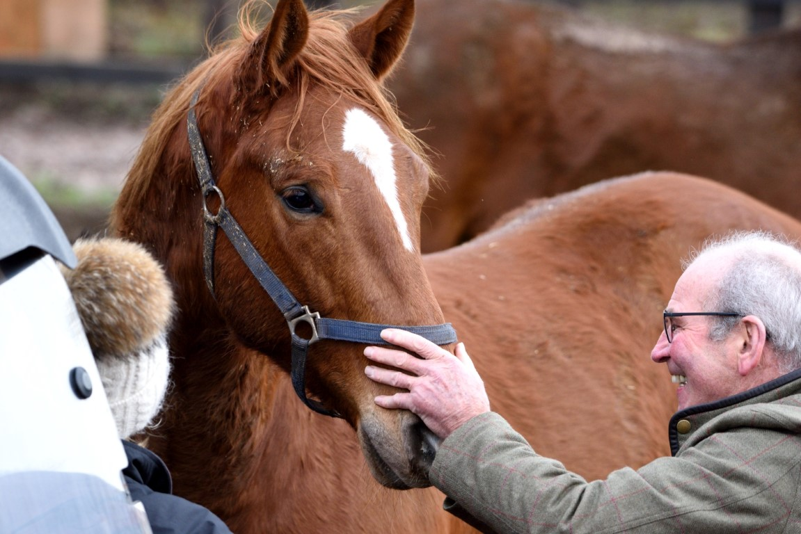 Foxy Rebel and joint owner/breeder Graham Scruton