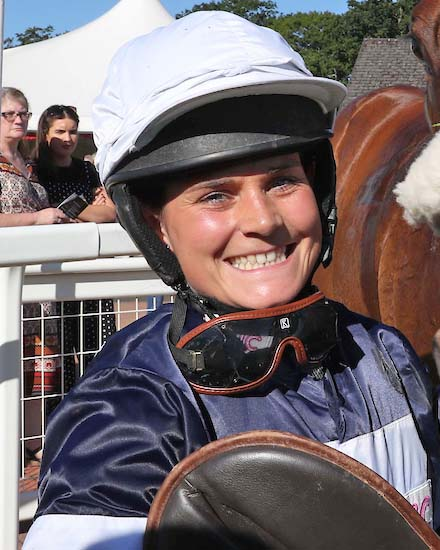 Emily winning jockey